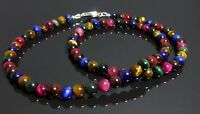 GEMSTONE Beaded NECKLACES Crystal 6mm