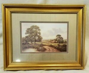 """House On The Country Side Lithograph, NOT SIGNED, 19.5"""" x 15.5"""" Framed"""