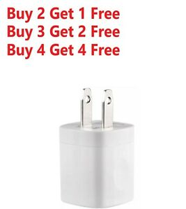 For iPhone 5 6 7 8 X 11 White 1A USB Power Adapter AC Home Wall Charger US Plug