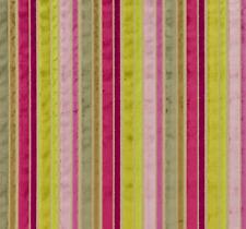 "Designers Guild Savio Cassis Multi Striped Upholstery Velvet 52"" X 15½"""