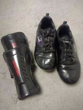 Kids soccer cleats and shin guards unisex size 1