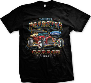 T-Bucket Roadster Garage Ford 1923 Classic Vintage Cars Mens T-shirt