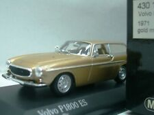 WOW EXTREMELY RARE Volvo P1800 ES Break 1971 Gold m 1:43 Minichamps-121/240/850