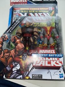 Colossus VS. Juggernaut! Marvel Universe Greatest Battles Comic Packs! Hasbro