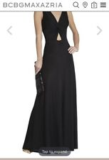 Nwt Missy Long Black Wedding Bridesmaid Black Gown By BCBG   Sz S, $395