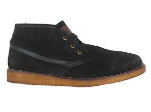 Quiksilver Marquez Chukka Desert Boots Men Sz 12 Black Suede Leather Shoes