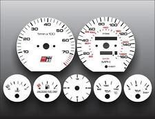 1992-1994 Audi S4 Dash Instrument Cluster White Face Gauges