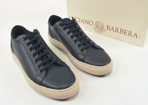 Luciano Barbera NWB Leather Sneaker Sz 41 (US 8) in Navy Blue