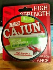 Zebco Cajun gator green tough anit abrasion  6 lb 330yds Fishing Line