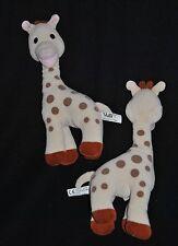 Lot 2 Doudou Sophie La Girafe VULLI Ecru Brun Hochet Grelot 28 Cm  TTBE