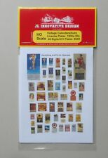 CALENDAR PLATES SIGNS 40-50s HO 1:87 SCALE LAYOUT DIORAMA JL INNOVATIVE 249