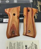 Hogue® 92710 Smooth Tulipwood Exotic Hardwood Wood Grips for BERETTA 92 96 M-9