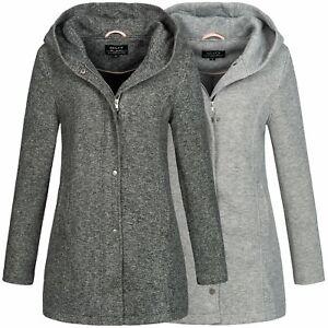 Hailys Damen Mantel Jacke Übergangsjacke Kurzmantel Damenjacke XL-Kapuze Mina
