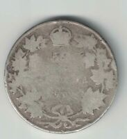 CANADA 1904 50 CENTS HALF DOLLAR KING EDWARD VII STERLING SILVER CANADIAN COIN