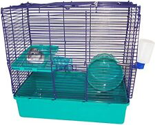 Minimals Gerbil & Hamster Starter Chew Resistant Cage With Exercise Wheel