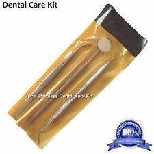 3Pcs HT Dental Instruments Mouth Mirror, Tooth Probe, Dental Tweezer Kit/Set,New