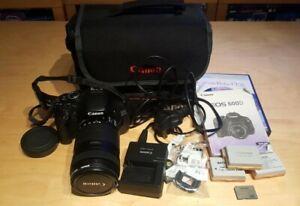 Canon EOS 600d digital SLR camera with lens