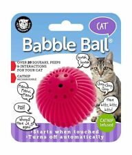 Pet Qwerks Cat Babble Ball with Catnip Infused, Interactive Cat Toy Pink