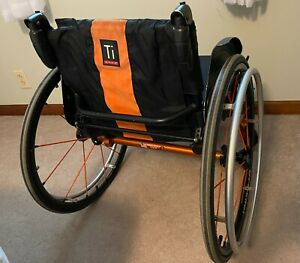 TiLite lightweight titanium manual wheelchair with Spinergy wheels