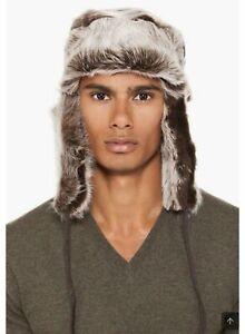Paul Smith Brown Fur Trapper Hat