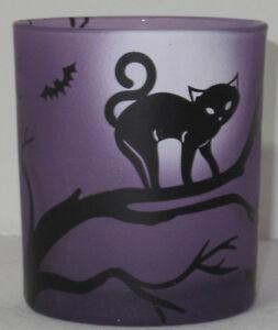 Yankee Candle Votive Holder V/H MIDNIGHT SOPHIA Halloween purple black cat