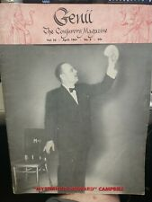 Mysterious Howard Campbell Issue 1961 Genii Conjurors Magazine Vol.25 No.8