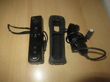 Official Nintendo Wii  Remote  Controller  Motion Plus - Black with nunchuck