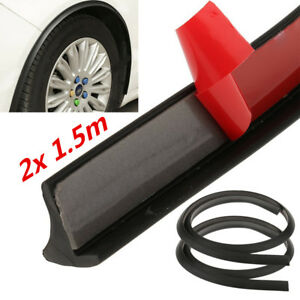 2pcs 150cm Car Universal Fender Flare Trim Extended Wheel Arch Protector Strip