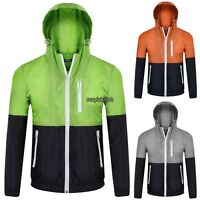 Spring Men Parchwork Hoodie Sport casual Sweatshirt Coat Jacket Sweater Outwear