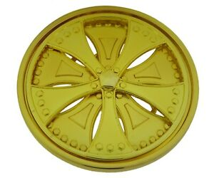Spinner Belt Buckle Gold Car Wheels Rims Rock Rebel Spinners Spins Big Metal New