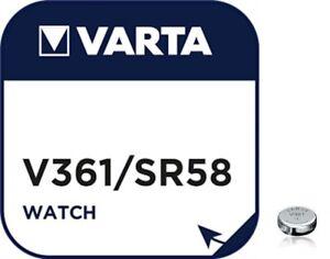 Piles boutons spéciales montres, V361,SR58,SR721W oxyde d'argent, marque Varta