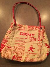 DKNY Small New York City Newspaper Print           Rare! New With No Tags