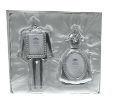 Mini MR & MRS wedding crystal photo frames, new and boxed