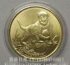 2016 China Lunar Zodiac Year of the Monkey Coin Medal Fine Copper Shanghai Mint