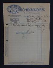 Facture ETS AUTO-ACCESSOIRE PARIS 1921 PAris bill Rechnung fattura