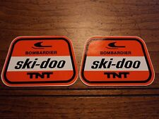 Lot of 2 SKI DOO BOMBARDIER TNT snowmobile vintage NOS decals stickers 1970s