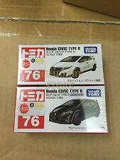 Tomica Tomy Takara  No.076 Honda Civic Type R Black Limited + White Set #76