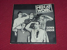 "Men at Work: Down Under/Who Can it be Now RARE 7""  BRAZILIAN PRESSING  EX+"