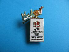 Vive le sport renault pin badge, très bon état. émail. © RENAULT ALBERTVILLE 92 jeux olympiques.