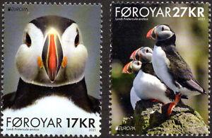 NEW ISSUE BELOW FACE 2021 Faroe Islands Foroyar EUROPA Puffins Birds Fauna