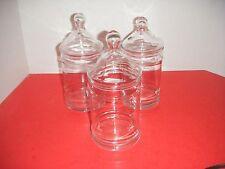 Clear Glass Drug Store / Apothecary / Terrarium / Storage Jars (Set of 3)