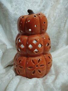 Yankee Candle Pierced Pumpkin Jar Holder - NEW
