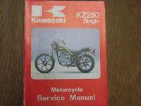 1980 80 1981 81 1982 82 1983 83 KAWASAKI KZ250 Z250  SERVICE REPAIR MANUAL