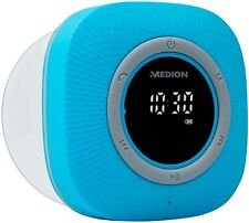 MEDION P66096 Duschradio mit Bluetooth (Saugnapf, LED-Display Wasserdicht) blau