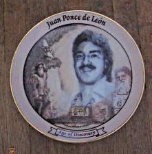3  AGE Of  DISCOVERY PORTRAIT Plates: Columbus, Ponce De Leon,Vasco da Gama