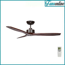 Fanco Wynd Ceiling Fan with Remote - Timber Blades