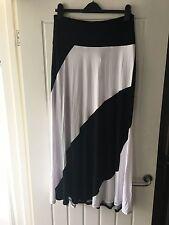 Lane Bryant Plus Sized Black & White Maxi A Line Skirt, 18/20 (US) 24 UK / NEW