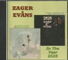 Zager & Evans CD - In the Year 2525   Brand New  on Oxford Label  2 LPs on 1 CD