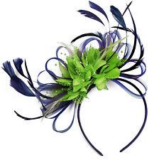 d8af02fd52c42 Customised Feather Hair Fascinator on Headband Wedding Royal Ascot Races  Bespoke