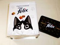 💎 Purina FELIX Cat Kitten Treats Time Lidded Metal Tin Storage Container 💎